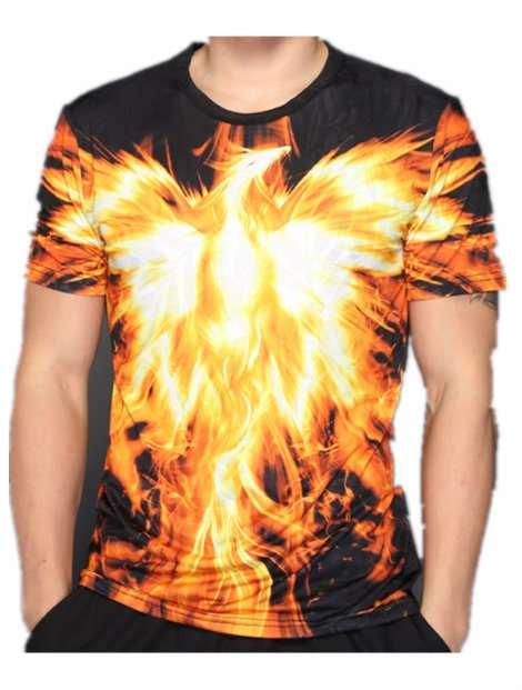 Wholesale Orange and Yellow Sublimated T Shirt Manufacturer