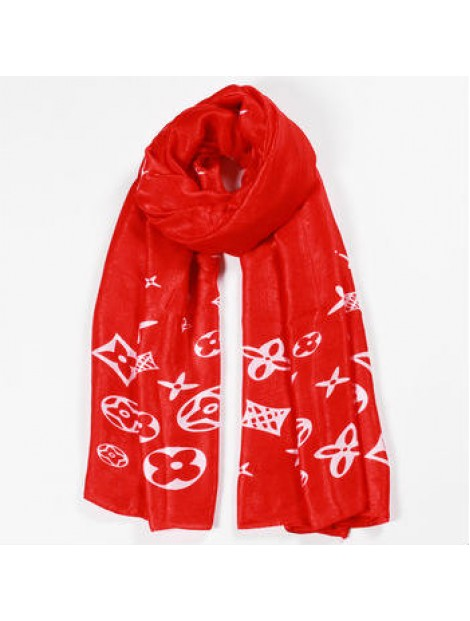 Wholesale Printed Red Scarf Manufacturer
