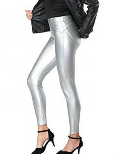 Wholesale Shiny Silver Women's Leggings Manufacturer