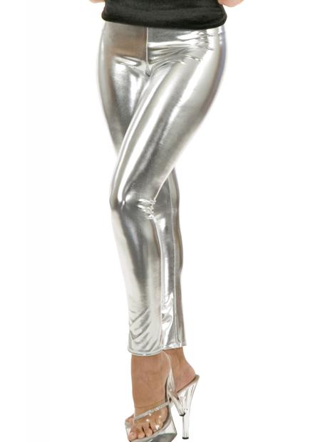 Wholesale Silver Pu Leather Leggings Manufacturer