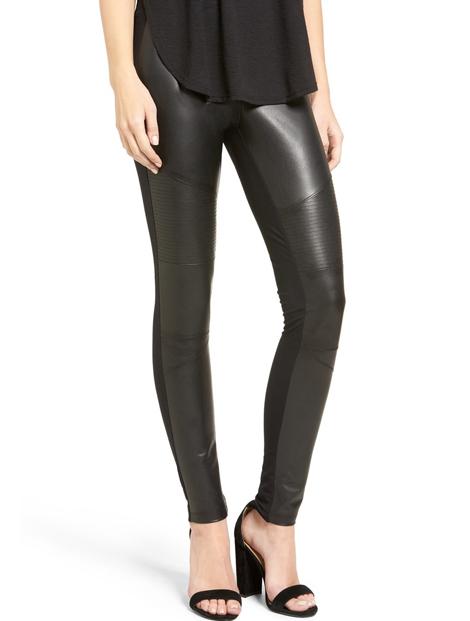 Wholesale Sleek Black Faux Leather Leggings Manufacturer