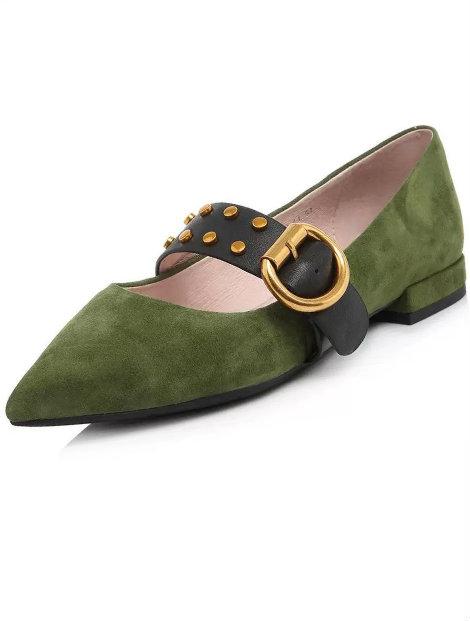 Wholesale Smart Olive Green Shoes Manufacturer