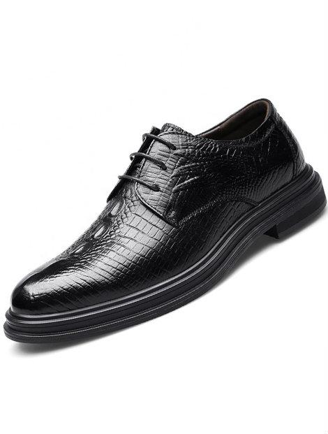 Wholesale Sophisticated Black Men's Dress Shoe Manufacturer