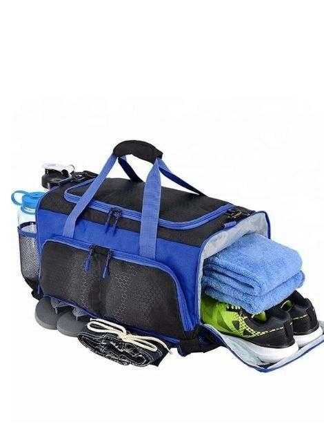 Wholesale Bold Blue and Black Bag Manufacturer