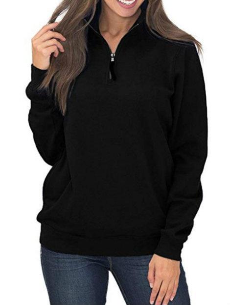 Wholesale Sporty Black Pullover Manufacturer
