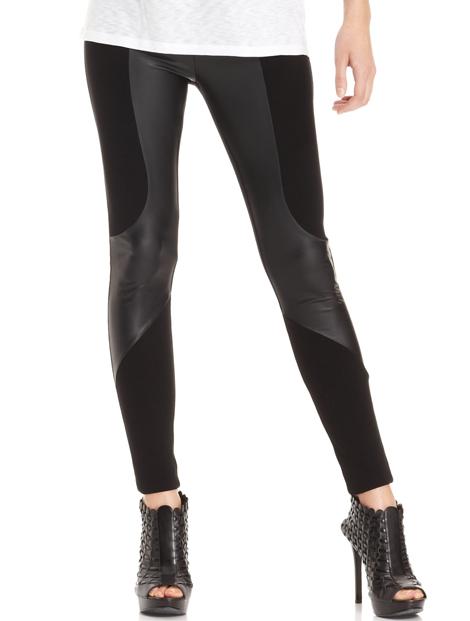 Wholesale Striking Black Faux Leather Leggings Manufacturer