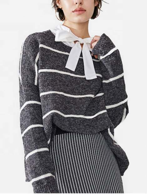 Wholesale Striped Women's Sweater Manufacturer