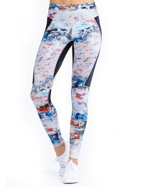 Wholesale Watercolor Printed Sublimated Women's Leggings Manufacturer