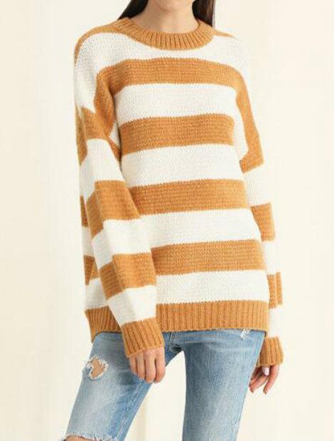 Wholesale White and Orange Women's Sweater Manufacturer