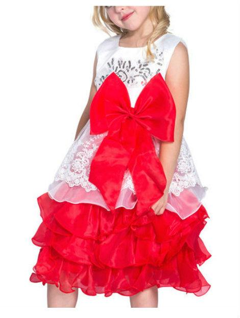 Wholesale White and Red Frock