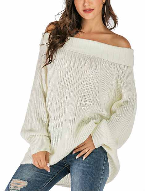 Wholesale Classy White Women's Sweater Manufacturer