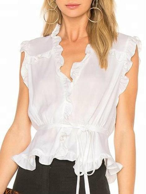 Wholesale Lovely White Women's Custom Top Manufacturer