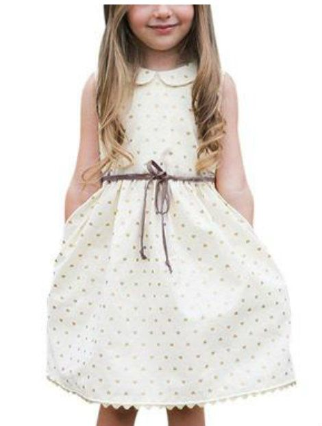 Wholeale Dotted Off White Frock