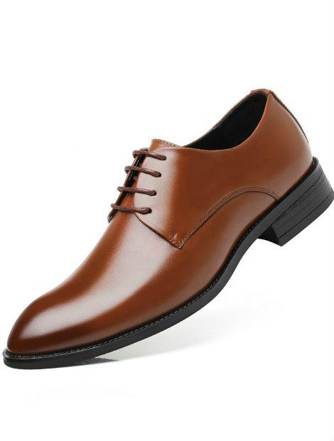 Wholesale Plain and Simple Brown Men's Dress Shoe Manufacturer