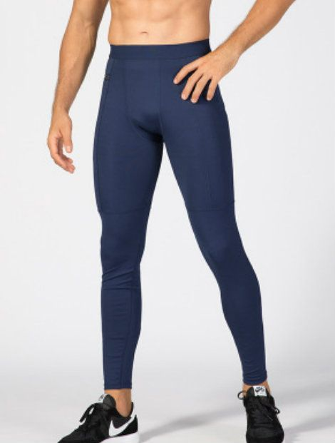 Wholesale Navy Blue Exquisite Men's Workout Tights Manufacturer