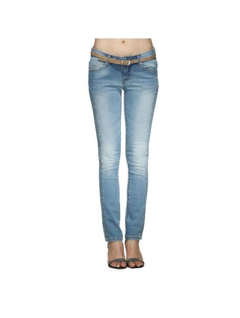 Wholesale Faded Blue Women's Jeans Manufacturer