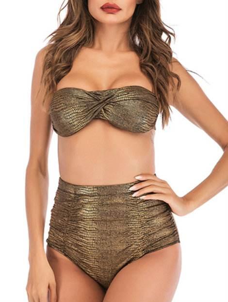 Wholesale Stylish Brown Bikini