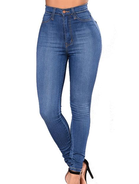 Wholesale Casual Blue Women's Jeans Manufacturer