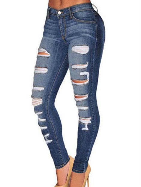 Wholesale Dark Blue Women's Jeans Manufacturer