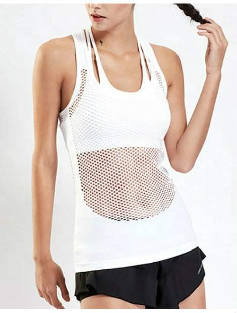 Wholesale White Simple Workout Top Manufacturer