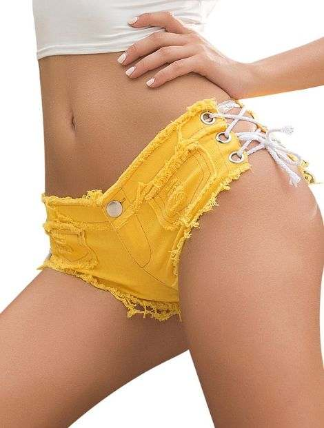 Wholesale Happy Yellow Workout Shorts Manufacturer