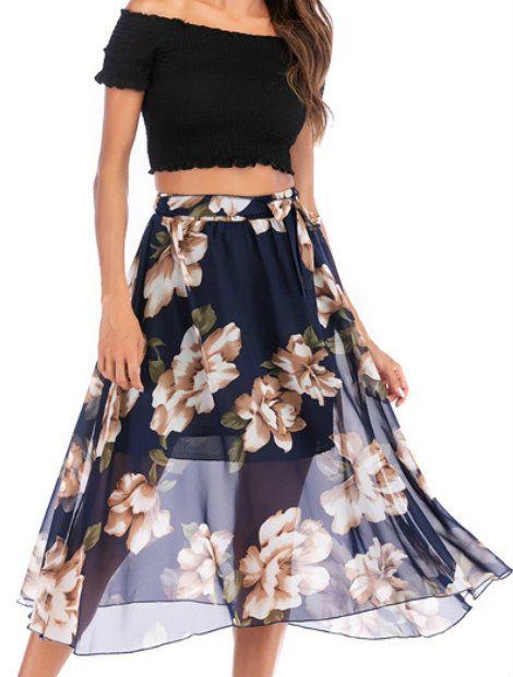 Wholesale Alluring Printed Skirt Manufacturer