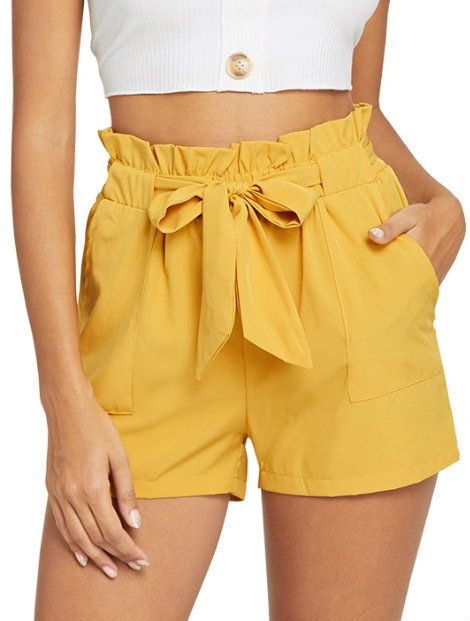 Wholesale Yellow Women's Shorts Manufacturer