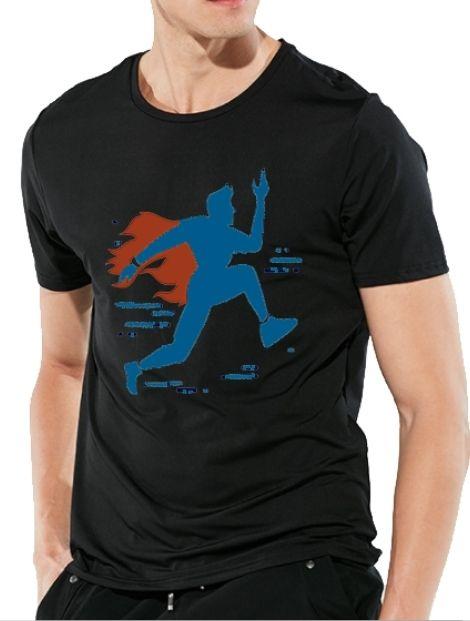 black marathon tshirt manufacturers