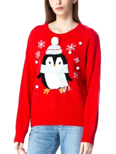 gorgeous red women sweater manufacturers