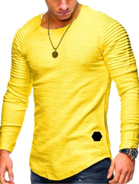 lemon yellow tee long sleeve suppliers
