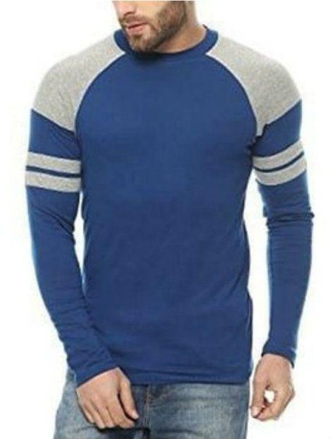 rich blue full long sleeve tee suppliers