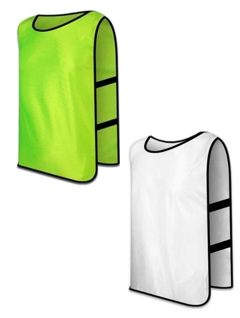 green and white football vest manufacturer